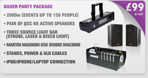 2000w Silver Party Package With Party Light & Smoke Machine