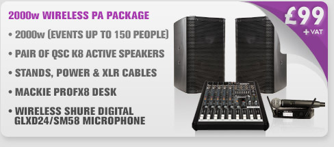 2000w Wireless Microphone PA Package