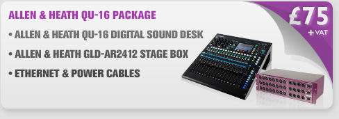 Allen & Heath QU16 Digital Sound Desk & GLD-AR2412 Digital Stage Box Package